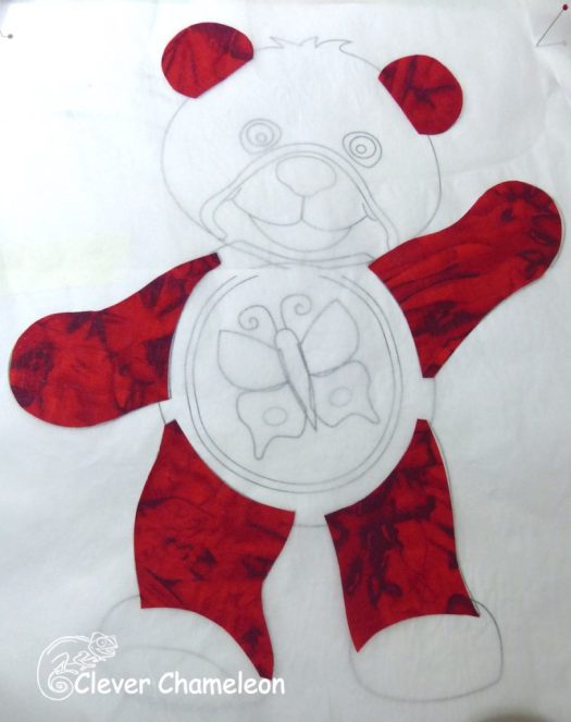 How To Applique The Red Bear Block Clever Chameleon Quilting