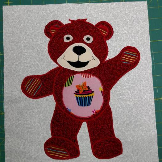 Jeannette's Red Bear for the Beary Colourful BOM