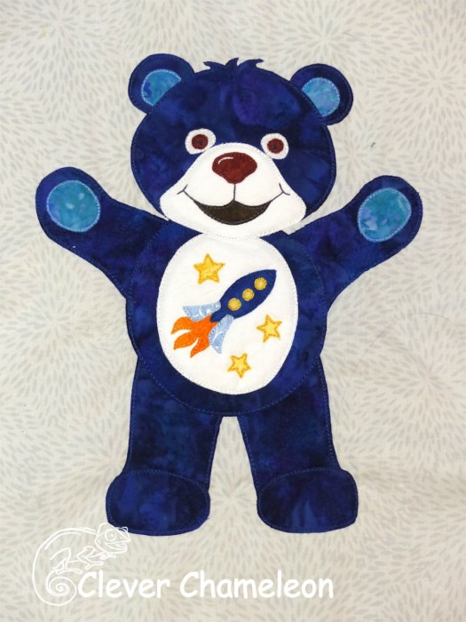 Blue Bear quilt block from Beary Colourful BOM