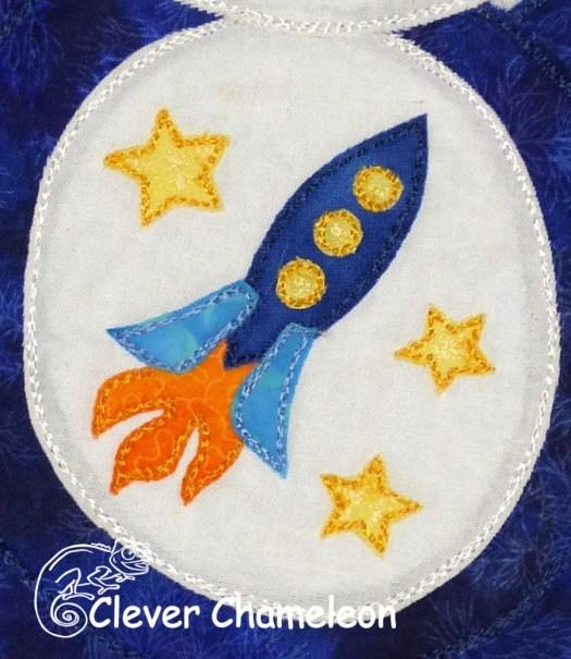 rocket appliqué motif from Clever Chameleon