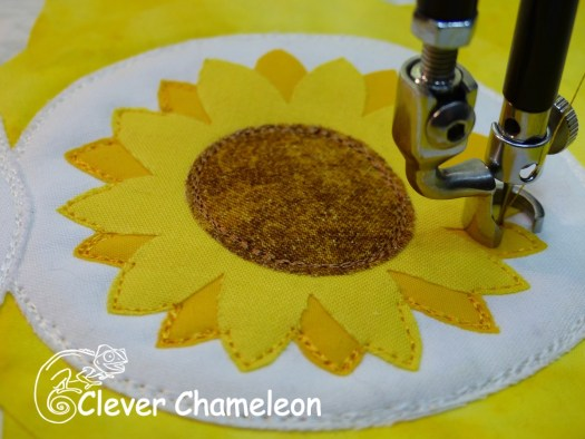 Sunflower appliqué