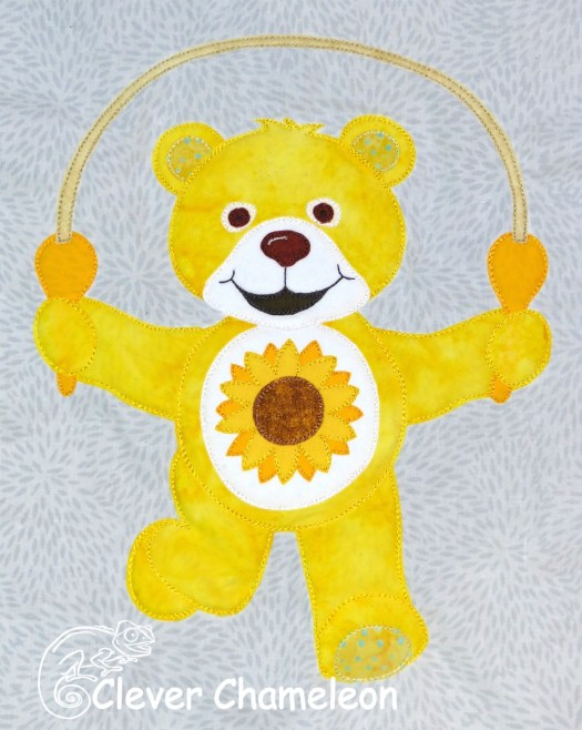 Yellow Bear from the Beary Colourful BOM at Clever Chameleon