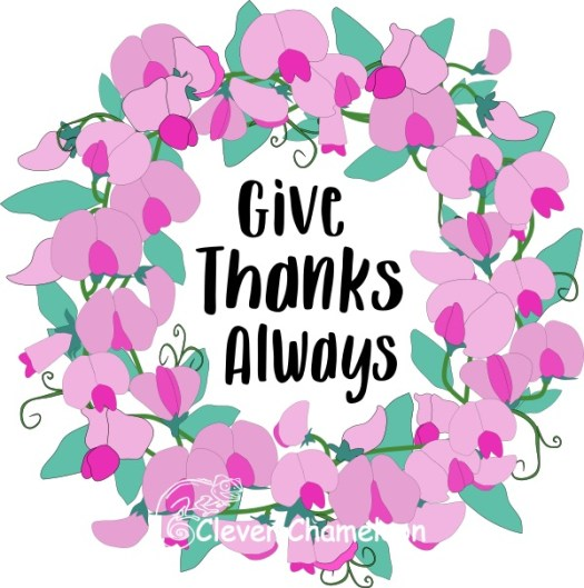 Give Thanks Always wreath quilt concept by Clever Chameleon