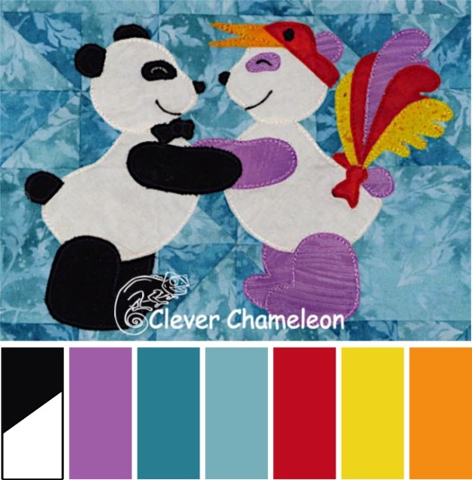 Panda Friends colour scheme by Clever Chameleon