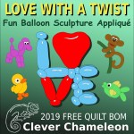 Love with a Twist 2019 quilt along at Clever Chameleon