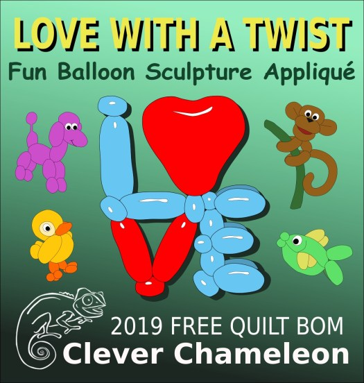 Love with a Twist free 2019 BOM at Clever Chameleon