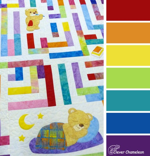 Tired Teddy Rainbow colour scheme from Clever Chameleon