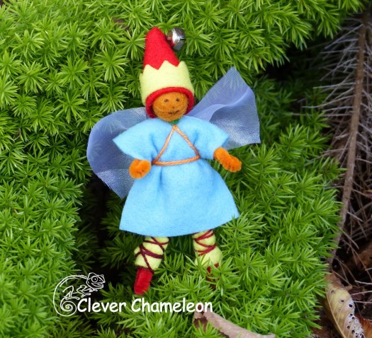 Fairy made of felt and thread
