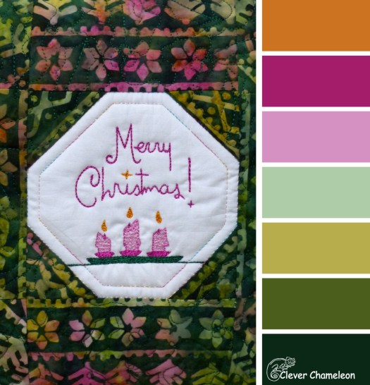 Merry Christmas colour board at Clever Chameleon