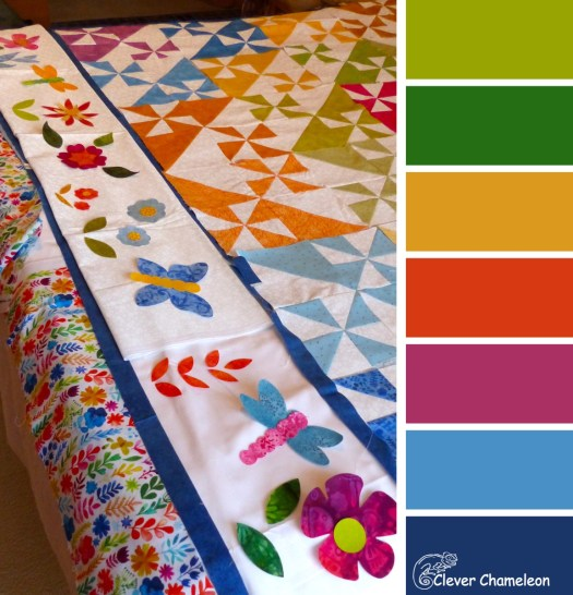 Pinwheels and Pretties colour board from Clever Chameleon