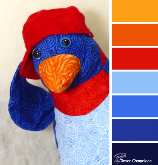 Peek a boo penguin colour board at Clever Chameleon Quilting