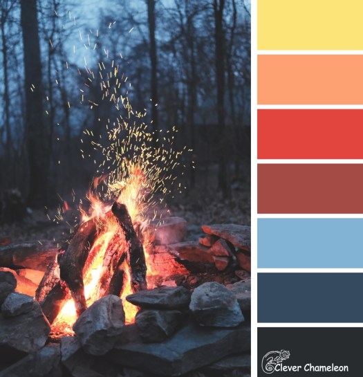 Campfire colour board at Clever Chameleon, Photo by Timothy Meinberg