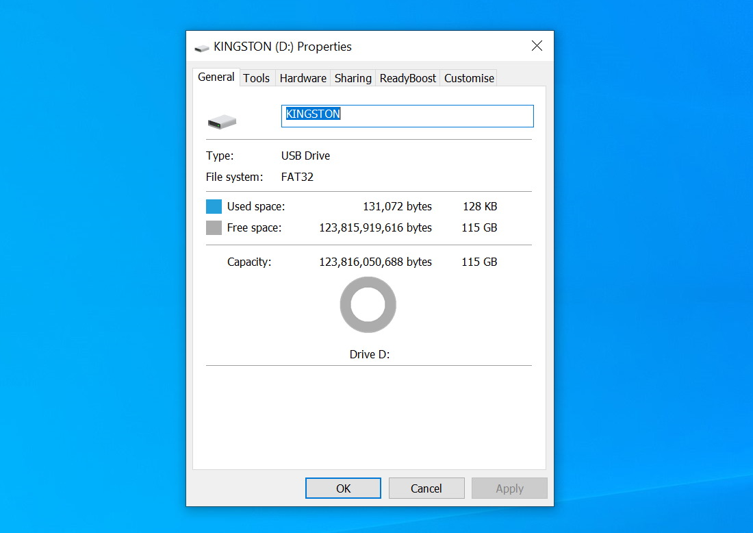 Recover a USB Flash Drive That has Turned RAW