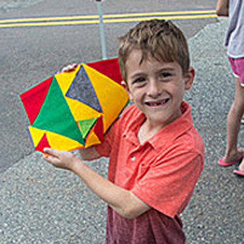 boy with finished piece