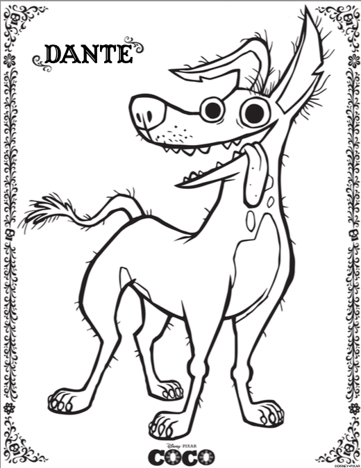 Free Printable Coloring Pages for Disney Pixar's Coco