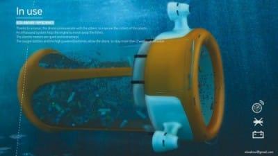 Plastic-eating marine drone