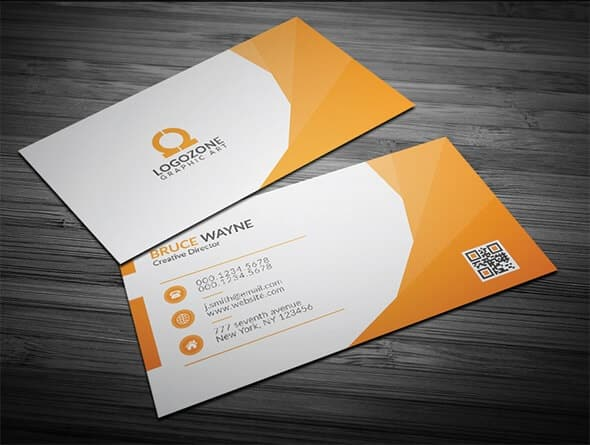 75 free business card templates that are stunning beautiful 1 orange corporate business card accmission Image collections
