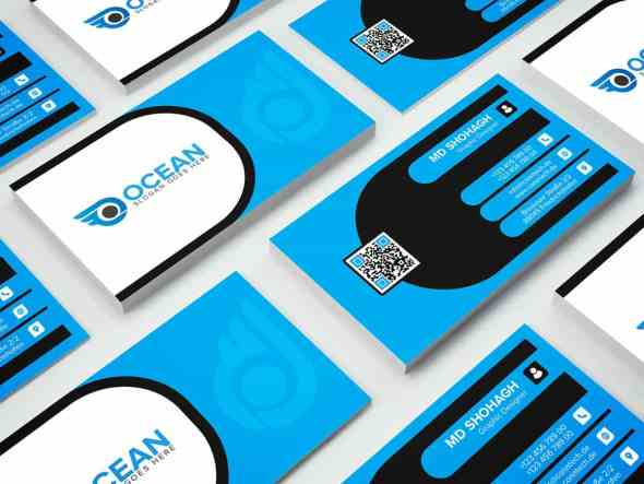 75 free business card templates that are stunning beautiful 13 professional and creative blue business card template cheaphphosting Images
