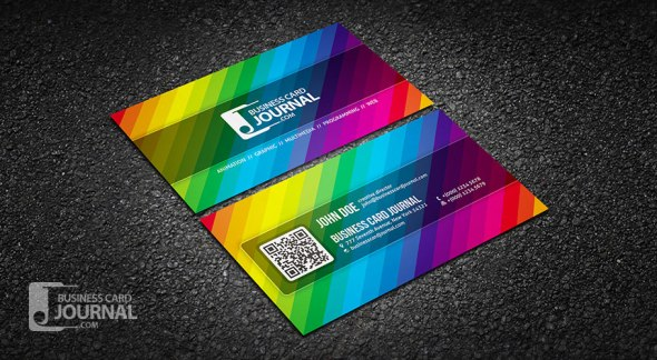 75 free business card templates that are stunning beautiful 14 creative color spectrum business card save businesscardjournal reheart Image collections