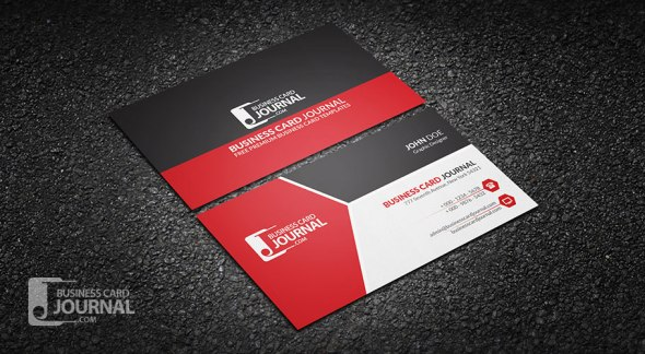75 free business card templates that are stunning beautiful 15 modern tricolor business card template for professional accmission Images