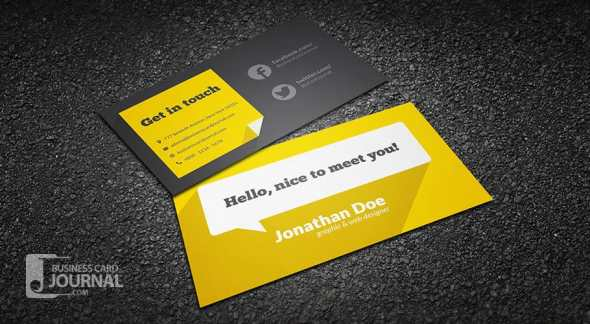 Free Business Card Templates That Are Stunning Beautiful - Free business card template
