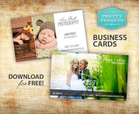 Free Business Card Templates That Are Stunning Beautiful - Photography business cards templates free