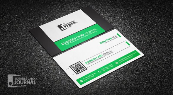 75 free business card templates that are stunning beautiful 68 refreshing green qr code business card template wajeb Gallery