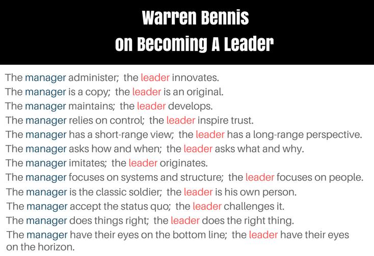 an analysis of the book on becoming a leader by warren bennis Warren g bennis university of professional development's executive leadership series: warren bennis on becoming a leader basic books bennis, w, nanus, b.