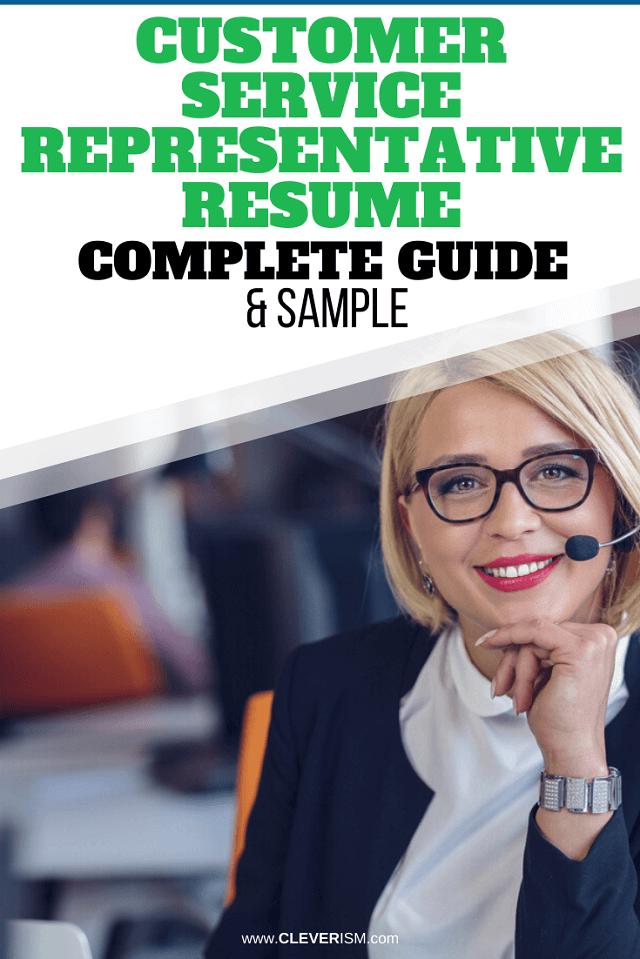 Customer Service Representative Resume: Sample and Complete Guide