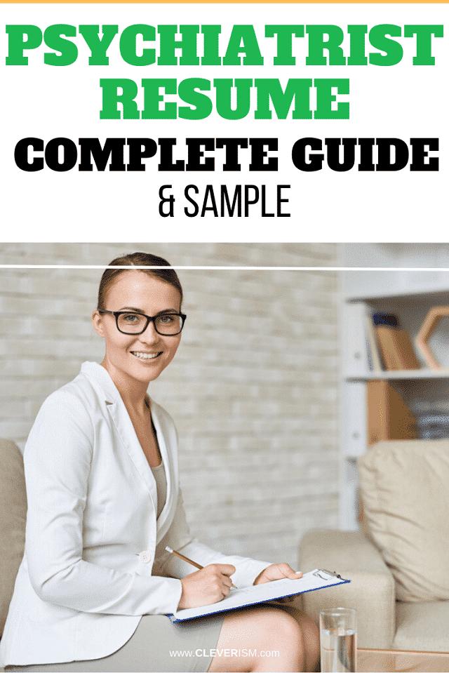Psychiatrist Resume: Sample & Complete Guide