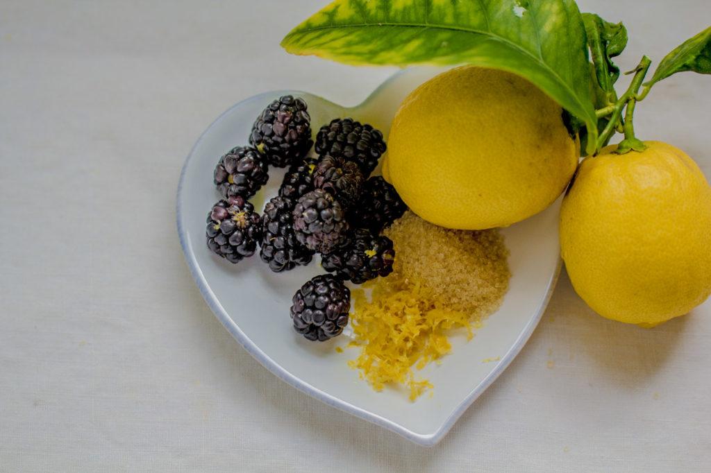 Blackberry Lemony Coconut Muffins