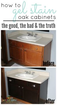 How to Use Gel Stain on Cabinets - The Good & The Bad