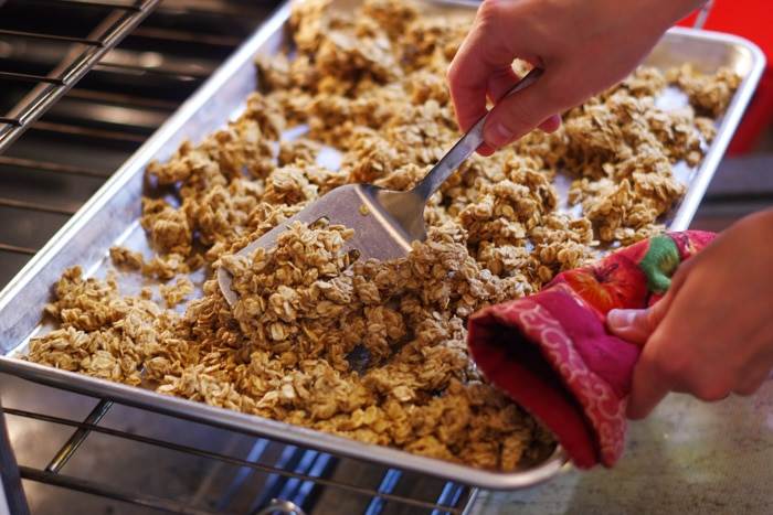 Simple Easy Homemade Granola Recipe Cleverly Simple