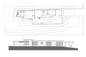 Parson Architecture Franklin Hills Midcentury Modern Plan Elev After-1