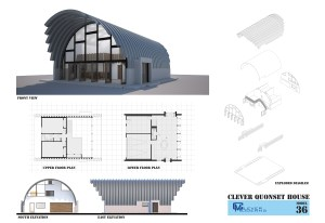 Clever Moderns Quonset Hut house plans designs interior structure