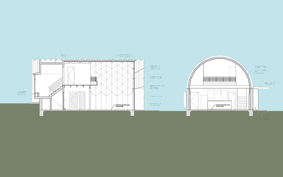Quonset Hut House Design: Loft Guest House