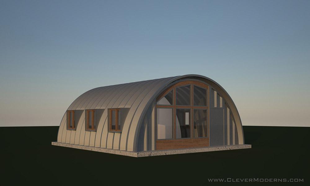 Side Window Studio Hut Plans