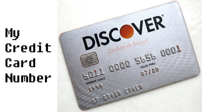 My Credit Card Number