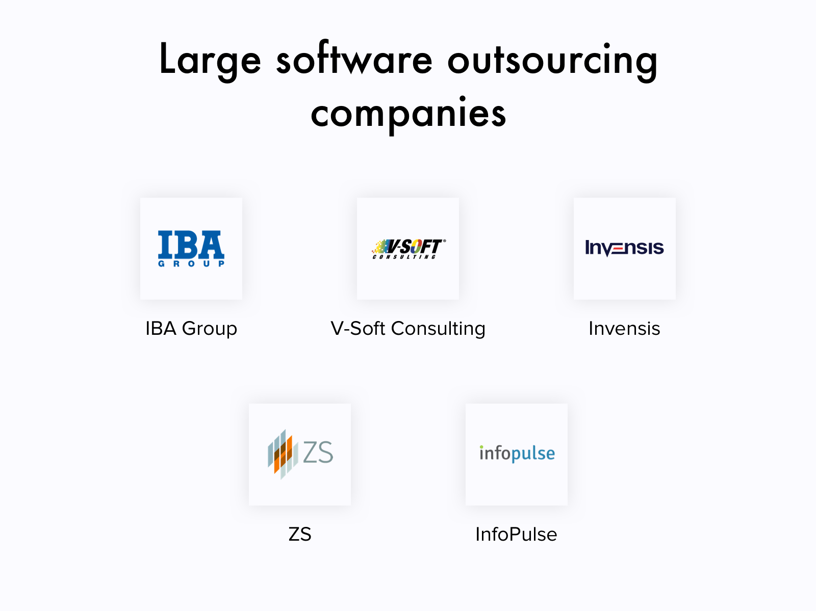 Top Outsourcing Software Development Companies By Their Size