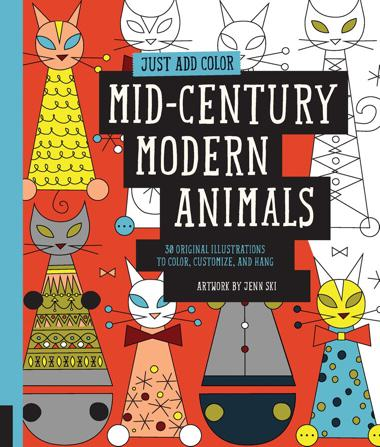 Just Add Color: Mid-Century Modern Animals