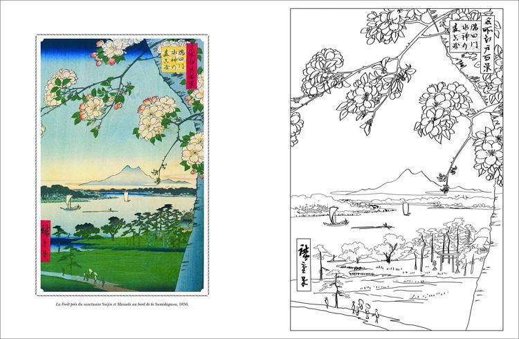 Cahier De Coloriages Paysages Du Japon Japanese Landscapes French Coloring Book