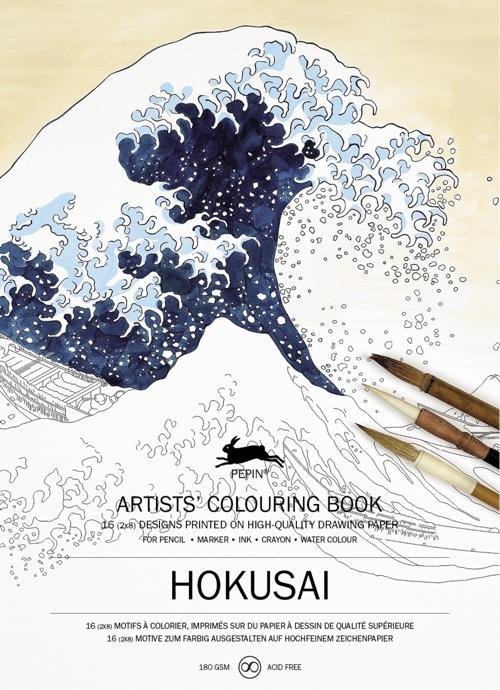 Hokusai: Artists' Colouring Book
