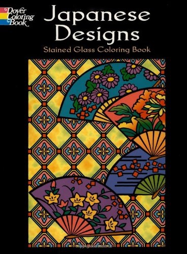 Japanese Designs Stained Glass Coloring Book Dover Design