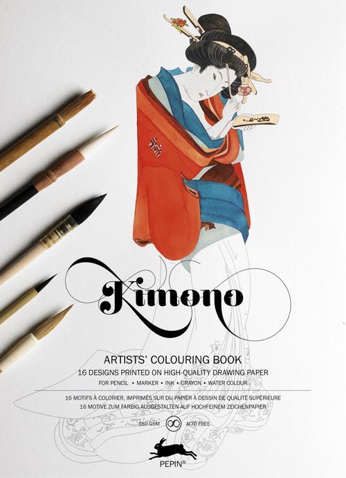 Kimono: Artists' Coloring Book