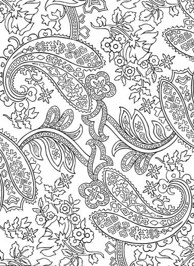 Paisley designs coloring book dover design coloring books