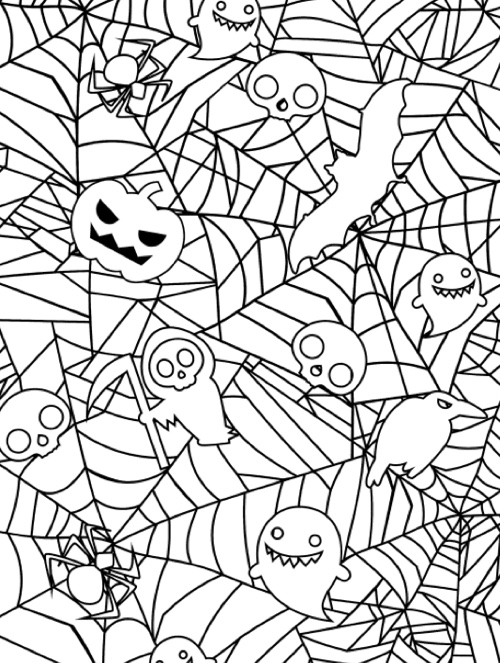 3-D Coloring Book--Happy Halloween (Dover 3-D Colo