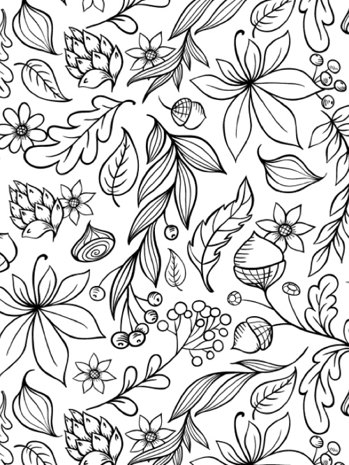 Best halloween coloring books for adults cleverpedia for Fall and halloween coloring pages