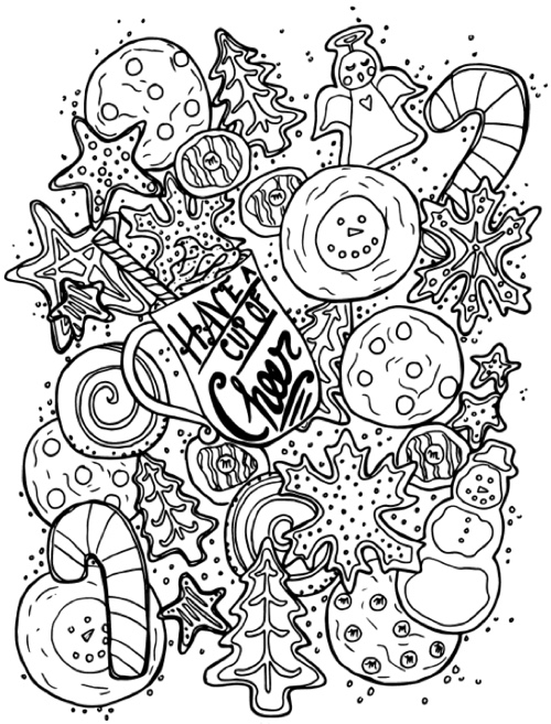 22 christmas coloring books to set the holiday mood for Adult christmas coloring pages