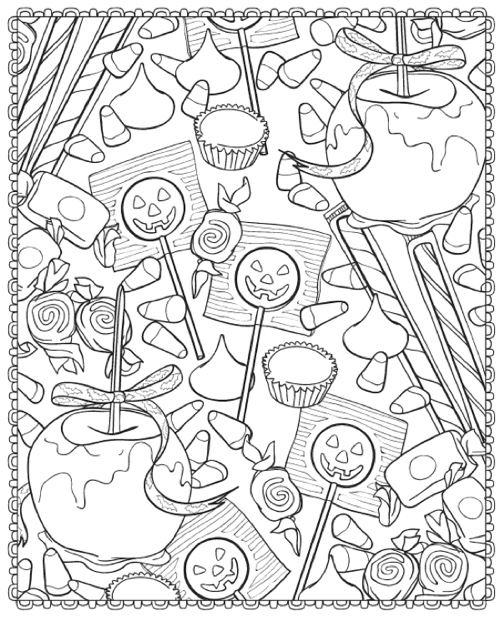 HalloweenScapes Dover Holiday Coloring Book