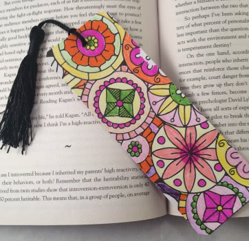 Crafty Ways to Use Your Coloring Pages: Bookmark